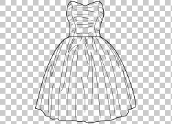 婚纱礼服Gown Fashion Prom,连衣裙PNG剪贴画白色,时尚,单色,时尚图片