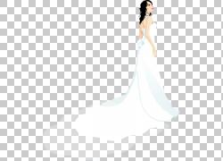 婚纱礼服新娘美女模式,手绘新娘PNG剪贴画水彩绘画,婚礼,人民,生图片