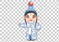 京剧Budaya Tionghoa中国戏曲卡通,演员模式PNG剪贴画名人,几何图图片