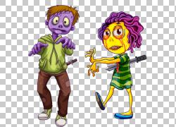 僵尸股票摄影,恐怖男孩女孩PNG剪贴画紫色,儿童,画,时尚女孩,摄影图片