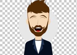 卡通单口喜剧插画,平风,笑,商务人士PNG剪贴画业务女人,脸,摄影,图片