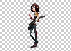 卡通如果(我们),摇滚女孩PNG剪贴画虚构人物,鞋子,短发,手绘,音图片
