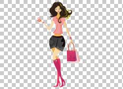 购物,漂亮女孩化妆PNG剪贴画时尚女孩,时尚,购物中心,女人,免版税图片