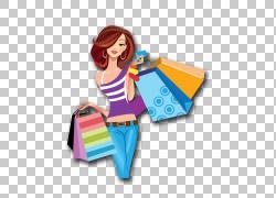 购物卡通,卡通女性购物,女人图PNG剪贴画卡通人物,假期,阅读,插画图片