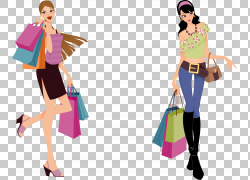 购物时尚,快乐购物PNG剪贴画杂项,生日快乐图像,时尚插画,女图片