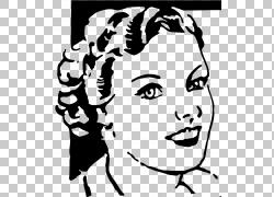面对女人描述,女孩脸PNG剪贴画白色,脸,文本,手,人民,单色,人类,图片