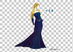 礼服钴蓝色肩膀,境界PNG剪贴画杂项,蓝色,其他,时尚插画,女孩,电图片