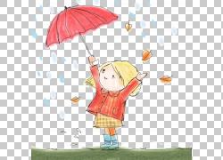 伞动画片例证,伞动画片女孩PNG clipart卡通人物,漫画,儿童,时尚图片