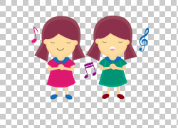 音乐课唱歌,唱歌的女孩PNG剪贴画爱,紫色,孩子,时尚女孩,钢琴,友图片