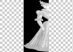 纸复古服装女人,复古女人PNG剪贴画人民,时尚,单色,时尚插画,时装图片