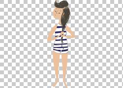 泳装沐浴,适合PNG剪贴画时尚插画,卡通,手臂,鞋,女孩,腹部,西装,图片