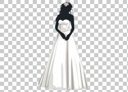 新郎婚礼,新娘PNG剪贴画人们,时尚插画,女人,女孩,白色婚礼,正式图片