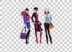 时尚设计时尚插画,袋模型PNG剪贴画紫色,名人,时尚,袋,鞋,女人,娃图片
