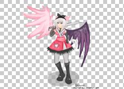 仙女Mangaka服装设计雕像,女孩看月光PNG剪贴画虚构人物,动作人物图片