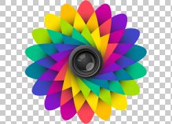 高动态范围成像Android相机,彩色卡PNG剪贴画摄影,花卉,洋红色,手图片