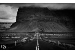 路,悬崖,沙漠,单色,冰岛,性质,景观26762