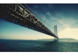 摄影,桥,海,水,景观,河,天空,船,山,建筑,云,吊桥988图片