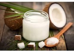椰子果壳椰汁高清摄影图片