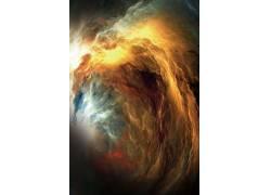 金色云层二次元梦幻仙境