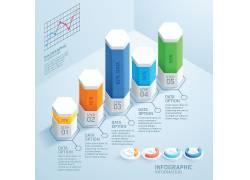 商业立体柱状信息图表元素