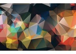 彩色几何拼接图片