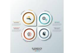 彩色的线条圆形商务图表