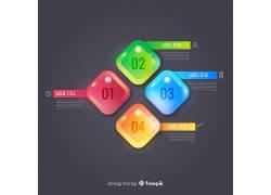 彩色的线条方格商务图表