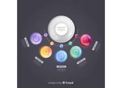 彩色的圆形商务图表
