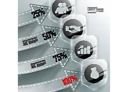 箭头商务图表