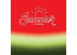 夏日红色绿色渐变矢量底纹背景