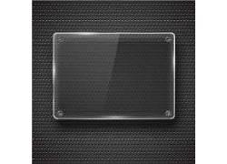 透明搁物板黑色金属矢量