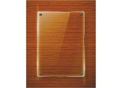 透明搁物板棕色金属矢量