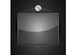 透明搁物板黑色钢板矢量