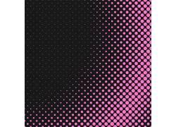 粉色光点黑色矢量底纹背景