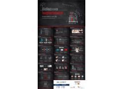 红色黑板粉笔手绘科学化学实验ppt课件模板