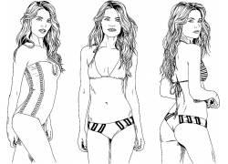 时尚女人插画图片