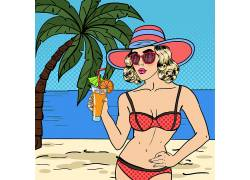 度假女人图片