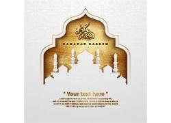 黄色的清真寺开斋节