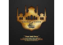 金色的清真寺开斋节