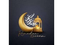 金色的清真寺月亮开斋节