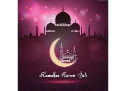 紫色的清真寺星月开斋节