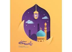 紫色的天空清真寺开斋节