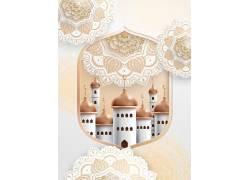 金色的花纹清真寺开斋节
