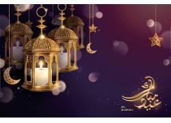 金色的灯笼星月回文开斋节