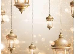 金色的灯笼星光开斋节