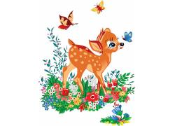 手绘卡通小鹿装饰图片