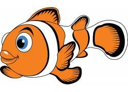 手绘卡通小丑鱼设计矢量图图片
