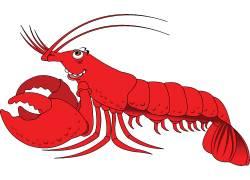 卡通手绘麻辣龙虾图片