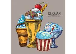 彩色的冰淇淋冷饮