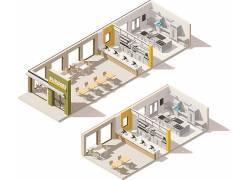 店铺3D模型效果图